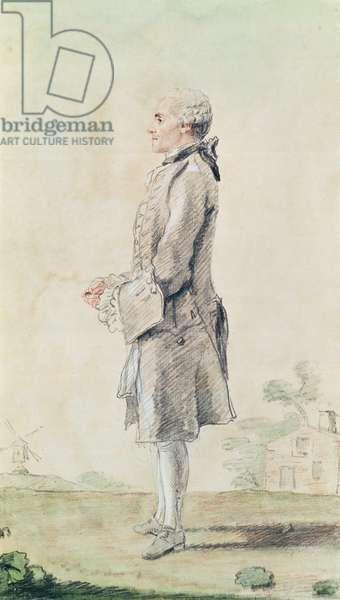 Mr du Rouet (pencil, w/c & red chalk on paper)