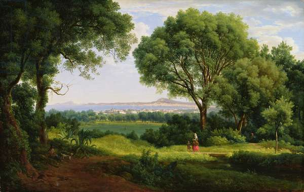 Landscape at Portici (oil on canvas)