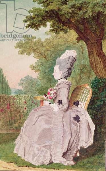Madame de Boisandre, wife of a horseman to the Duke of Orleans, c.1780 (pencil, w/c & gouache on paper)