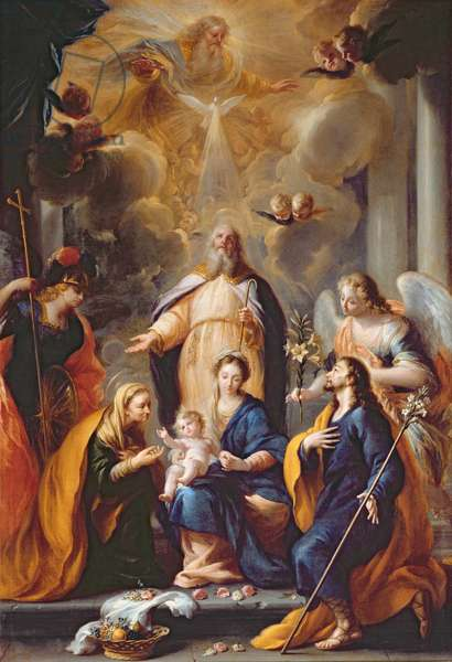 The Hymn of St. Simeon (oil on canvas)