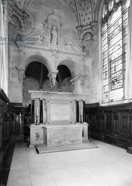 Altar from the chapel of Chateau d'Ecouen, c.1544-52 (marble) (b/w photo)