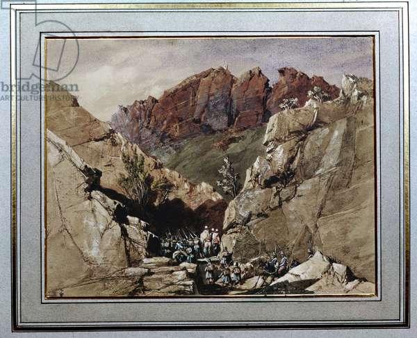 The Portes de Fer Passage IV, 1839 (w/c on paper)