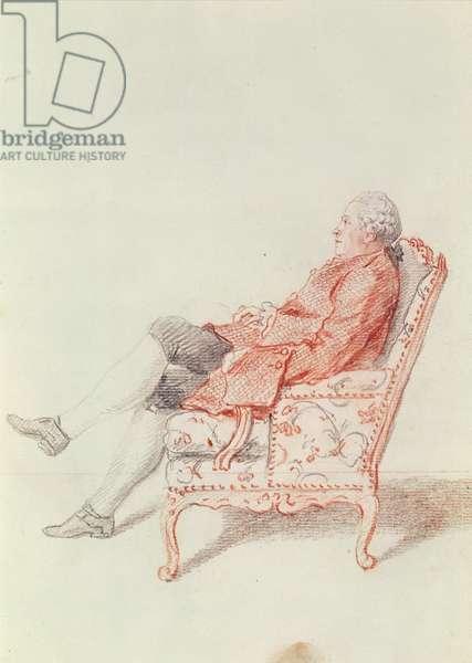 Mr de Pignatelli (pencil & red chalk on paper)