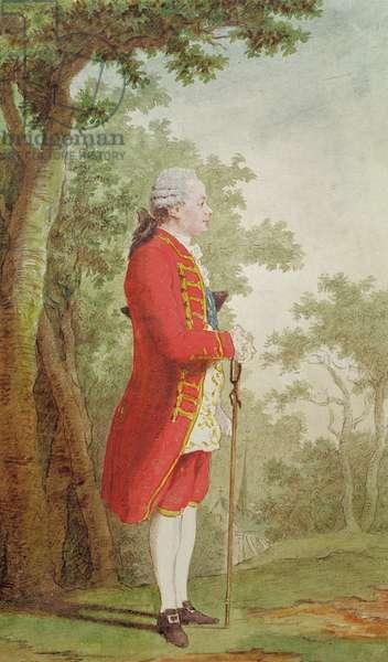 Louis Jean Marie de Bourbon (1725-93) Duke of Penthievre, 1765 (pencil, w/c & gouache on paper)