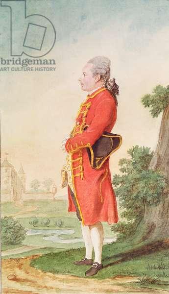 Gaspard-Claude de Fleurieu, Sieur de Montverdun, servant to the Duke of Orleans, 1770 (pencil, w/c & gouache on paper)