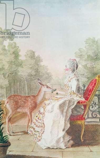 Anne-Claudine Mayneaud de la Tour, Comtesse de Pons Saint-Maurice, 1760 (pencil, w/c & gouache on paper)