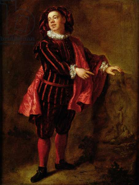 Angelo Constantini (1655-1730) in the Role of Mezzetin, c.1699-1706 (oil on canvas)