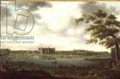 Chantilly in 1781, View from Vertugadin (oil on canvas)
