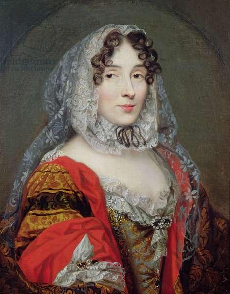 Portrait presumed to be Marie-Anne de la Tremoille (1642-1722) Princess of Ursins, c.1670 (oil on canvas)