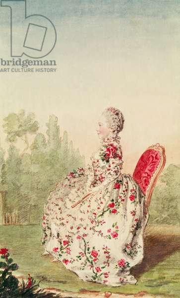Mademoiselle de Provencheres (pencil, watercolour and gouache on paper)