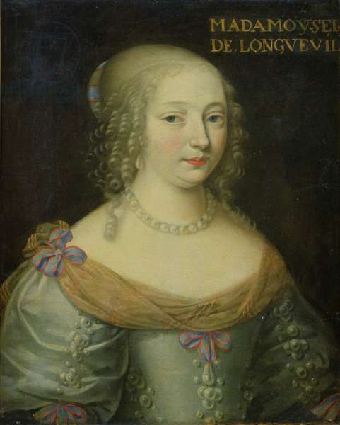 Portrait of Madamoiselle de Longueville (1625-1707) (oil on canvas)