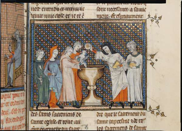 Ms 137/1687 f.45 The Baptism (vellum)