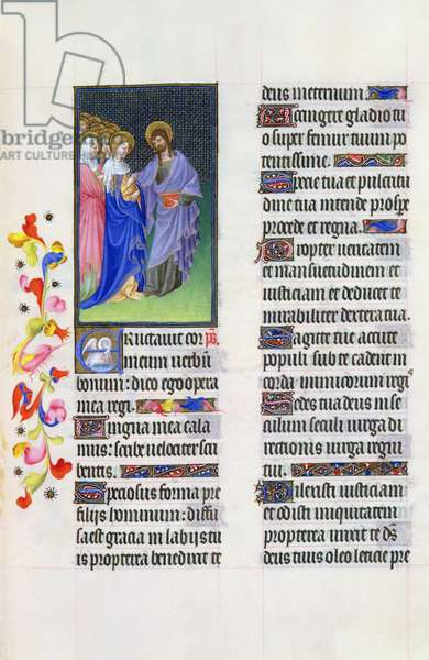 Ms 65/1284 fol. 31r Mystical marriage of Christ and the Church, from the Très Riches Heures du Duc de Berry (vellum)