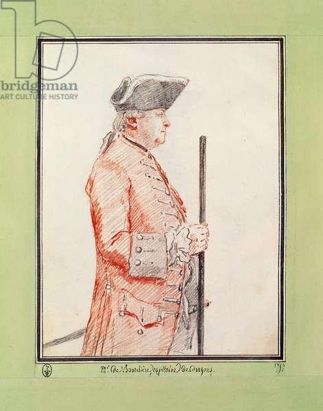 Monsieur de Bouthillier  Marquis de Chavigny (pencil & red chalk on paper)