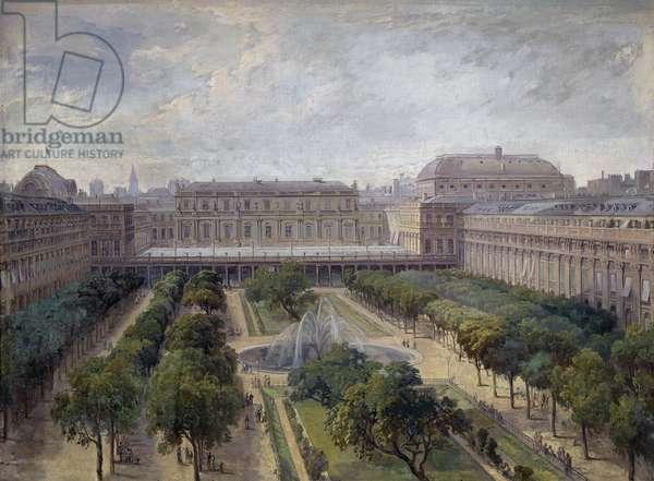 View of the Palais Royal, Paris, 1880-82 (oil on canvas)