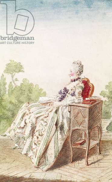 Madame de Lorme, La Geoffrin du Marais, c.1760-70 (pencil, w/c & gouache on paper)