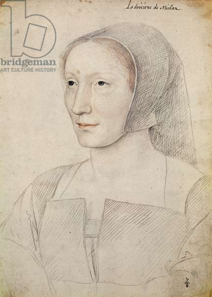 Madeleine de Crussol (1490-1531), dame de Mitte de Miolans, femme de Louis de Miolans, c.1523 (pencil on paper)