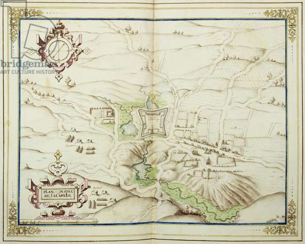 Map of Picardie, Boulonnois, Artois and Reconquered Territory, plan of the Fort de la Capelle, 1602-03 (colour engraving)