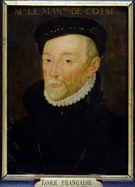 Portrait of Charles I de Brissac (1505-63) Marshal de Cosse (oil on panel)
