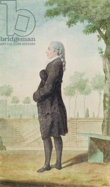 Monsieur de Blossac (pencil, w/c & gouache on paper)