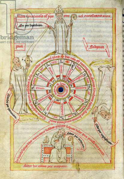 Jean de Stavelot: Collection of St. Benedict's Writings', The Wheel of the True Religion, fol. 152v, 1432-37 (vellum)
