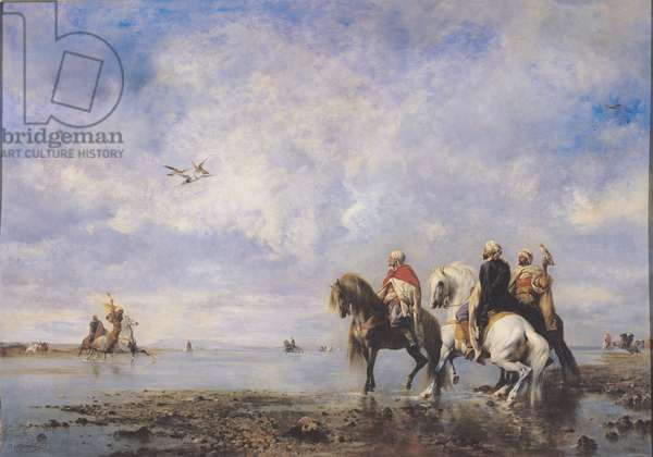 The Heron Hunt or Arabs Hunting with Falcons, 1865 (oil on canvas)