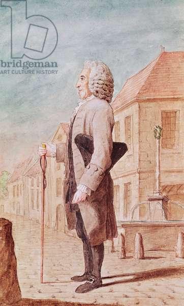Ducan, tailor from Villers-Cotterets, 1770 (pencil, w/c & gouache on paper)