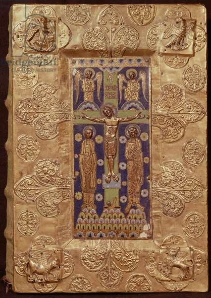 Cover of the Gospel of St. Ludger (gilded copper & enamel)
