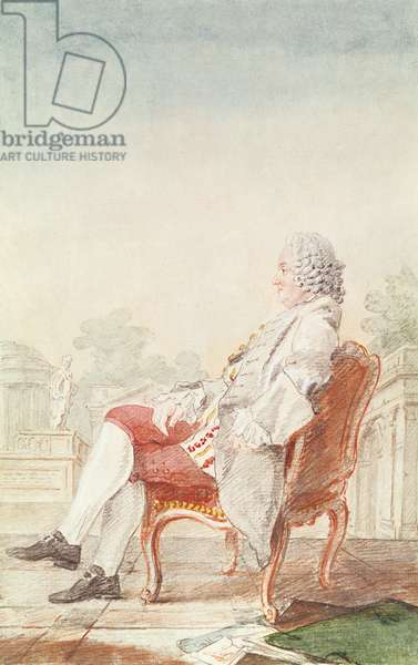 Monsieur de La Curne de Sainte-Palaye, 1760 (pencil, w/c & gouache on paper)