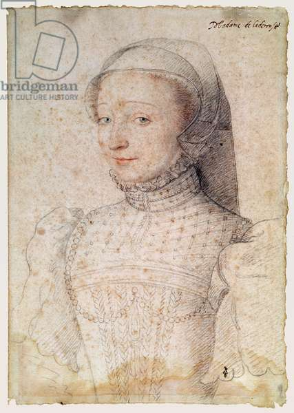 Philiberte de Clermont (1520-1604), femme de Jean, sire de Caerousse, c.1558 (pencil on paper)