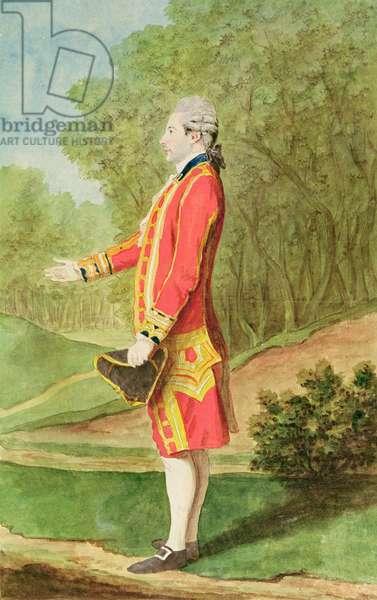 Monsieur de Brossard, Equerry to Louis Philippe d'Orleans, 1781 (pencil, w/c & gouache on paper)