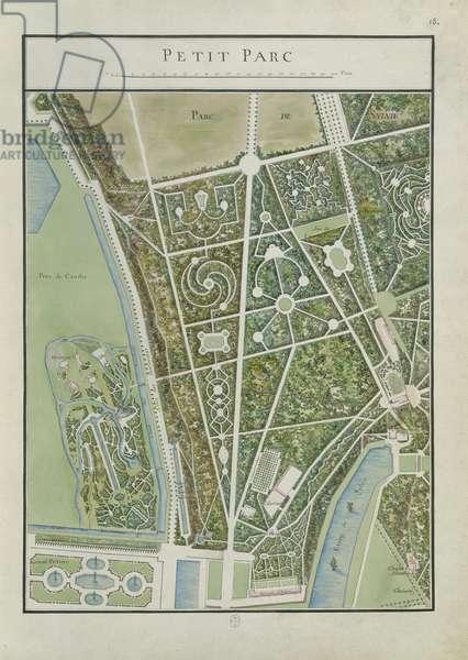 Little Park, fol. 18 of the Atlas du Comte du Nord, Château de Chantilly, 1784 (ink & w/c on paper)