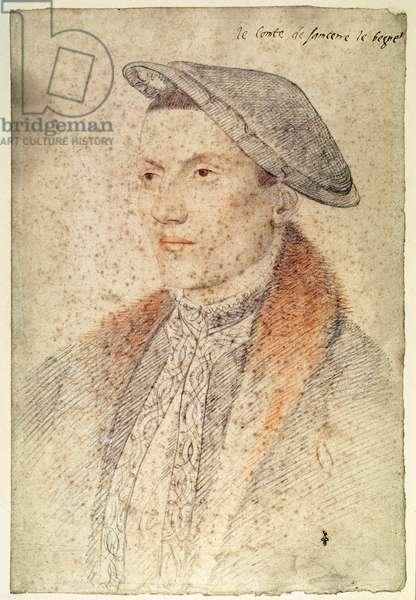 Louis de Bueil, comte de Sancerre (?-1563), c.1535 (pencil on paper)