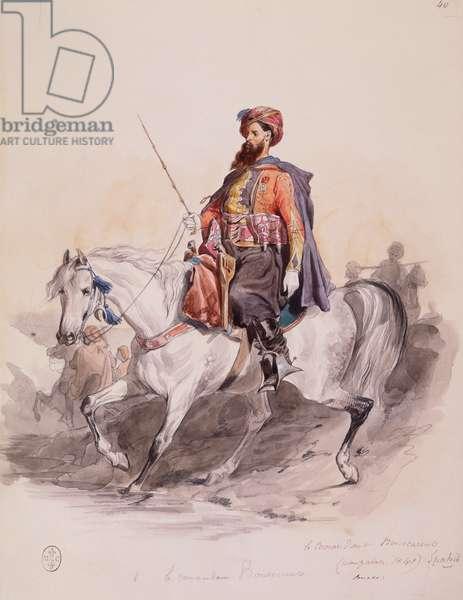 Spahi Commander Bouscarente at Muzayah, from 'Album Afrique 1835-45', 1840 (w/c on paper)