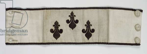 Armband with fleur de lys from the French emigre army (embroidered cloth)