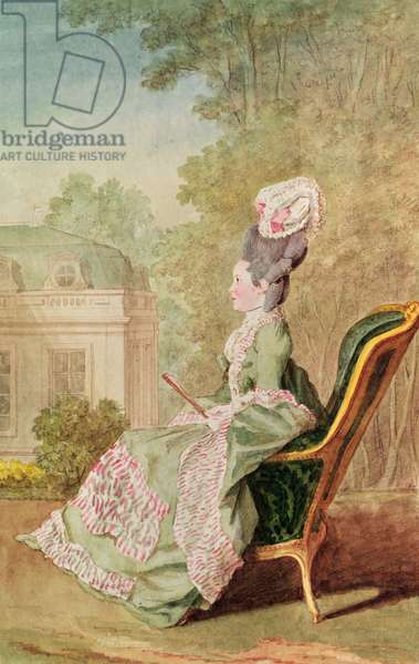 Mademoiselle de Mercy (pencil, watercolour, gouache and red chalk on paper) 1774-1780