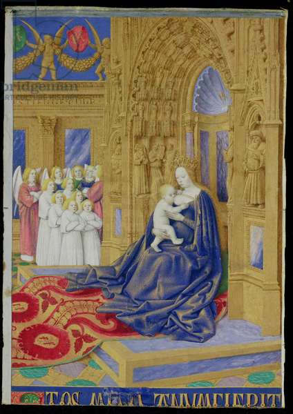 Ms 71 f.2 Virgin and Child, from the 'Hours of Etienne Chevalier', c.1445 (vellum)