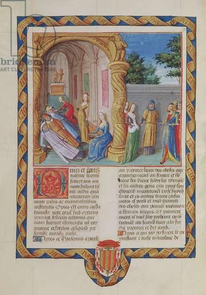 Ms 833-834/313-314 t.I fol.91v De Institutis Antiquis, by Valerius Maximus for Philippe de Commynes, from 'Dicta et Facta Memorabilia,' c.1475 (vellum)