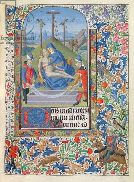 Ms 76/1362 Pieta, from the Hours of the Duchess of Burgundy, c.1450 (vellum)