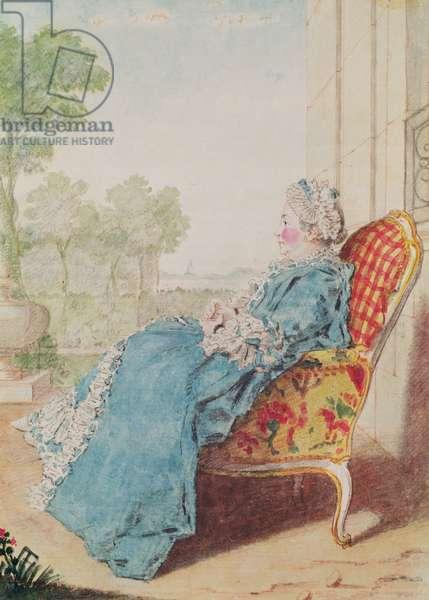 La Duchesse de Mortemart (b.1728)(pencil, watercolour and gouache on paper) c.1770