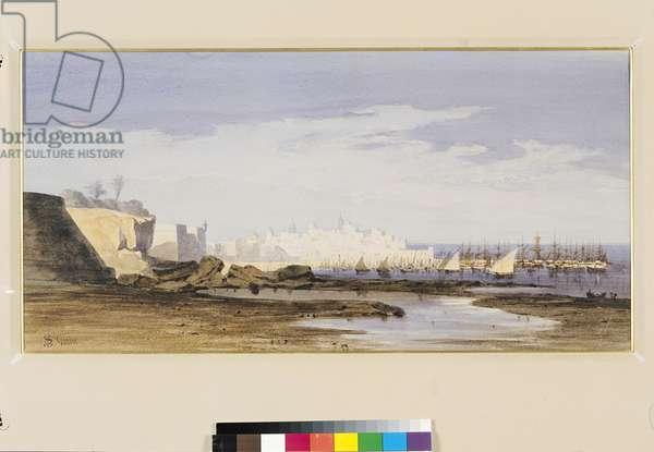 View of Cadiz (w/c on paper)