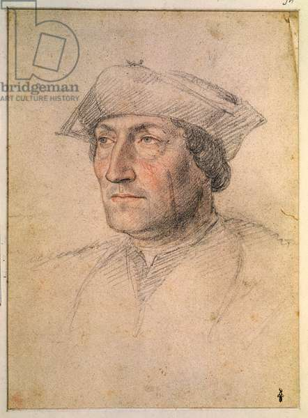 Portrait presumed to be Louis of Breze (d. 1531) Count of Maulevrier, c. 1521 (pencil on paper)