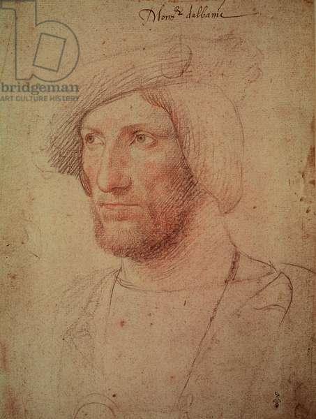 Portrait of the Duke of Albany John Stewart (1481-1535) c.1525 (pencil on paper)