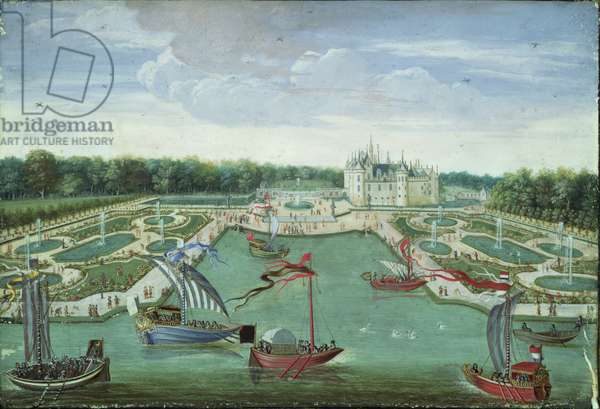 View of the Chateau de Chantilly, c.1680 (oil on canvas)