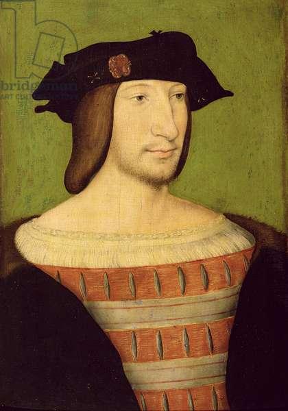 Portrait of Francois I (1494-1547) c.1515-20 (oil on panel)