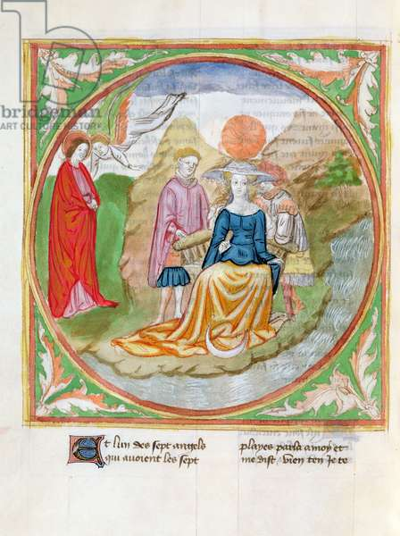 Ms. 28/1378 fol.100v The Great Prostitute, from 'Histoire Extraite de la Bible et Apocalypse' (vellum)