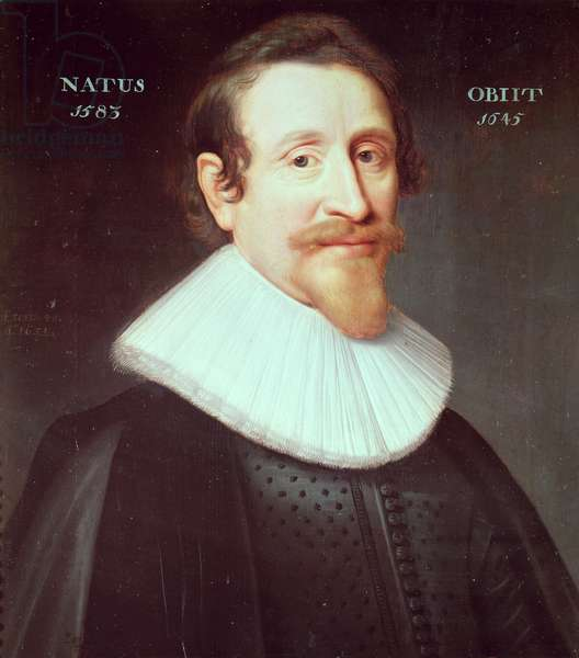 Hugo Grotius (1583-1645) (oil on panel)