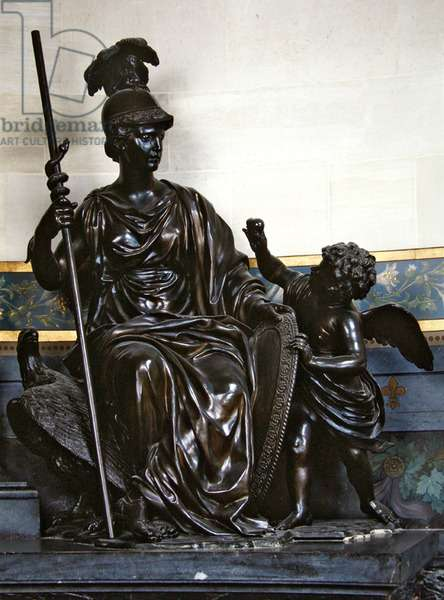 Detail of the Pieta in the mausoleum of Henri II situated in the chapel, after 1650 (bronze)