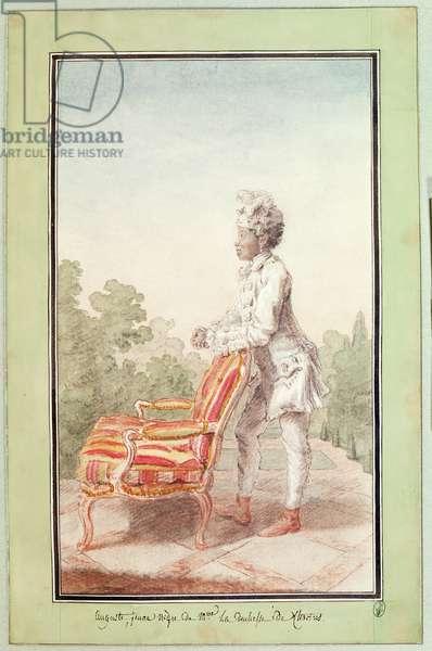 Portrait of Auguste (w/c on paper)