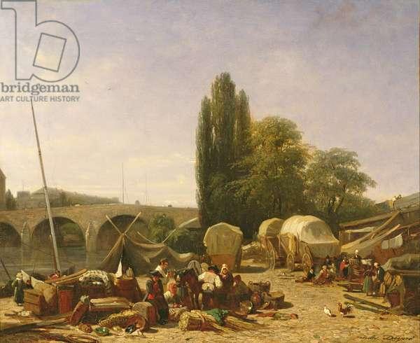 The Porte Saint-Nicolas, Paris (oil on canvas)